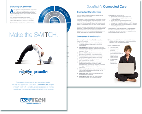 Docutech, Make the Switch Printed brochure